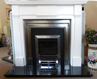 OER Kensington White fire surround